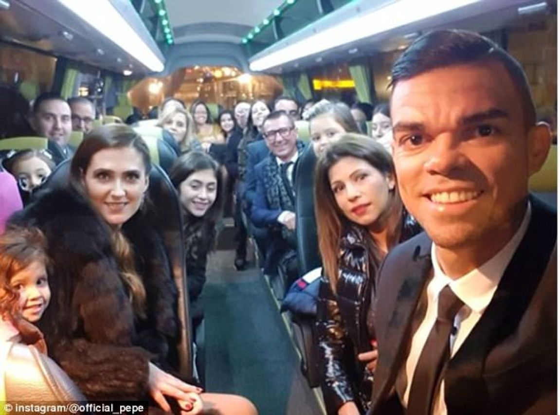 Besiktas defender Pepe spent New Year with an entire party bus full of friends and relatives