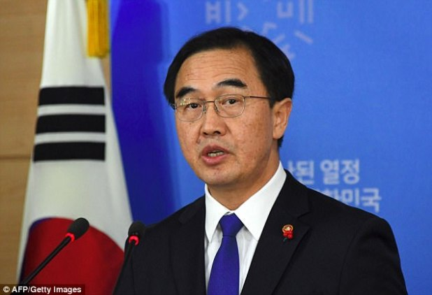South Korean Unification Minster Cho Myoung-gyon says the South proposes the two Koreas meet Jan. 9 at the border village of Panmunjom to discuss Olympic cooperation