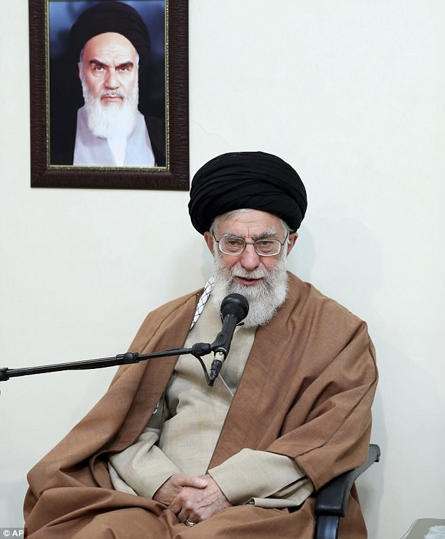 Supreme Leader Ayatollah Ali Khamenei (pictured today) has blamed the country's 'enemies' for riots that have claimed nine more lives overnight