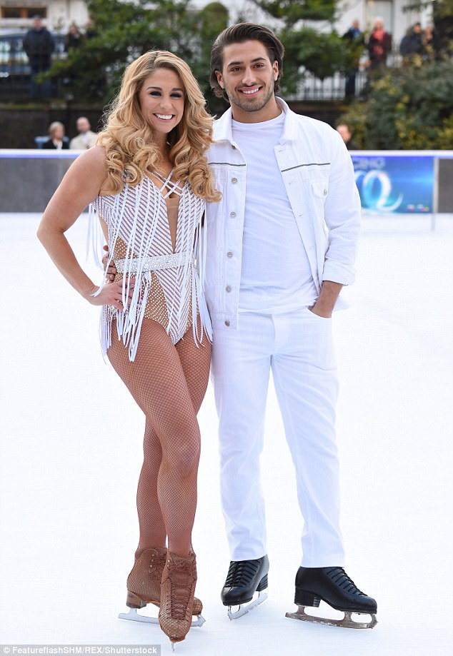 Hoping to nurse his heartache, Kem has been throwing himself in to rehearsals for his Dancing On Ice debut (pictured with dance partner Alex above)