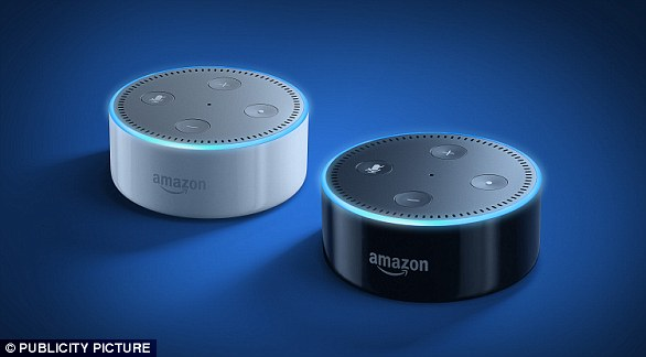 Amazon's $50 (£40)  Echo Dot puts the firm's smart speaker in a small package