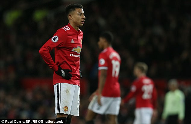Jesse Lingard shows his frustration after Saturday's disappointing draw with Southampton