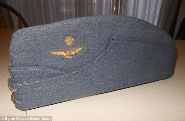 Mr Nilsson became as soon as invited to Mr Cooper's home for dinner and became as soon as intrigued to peek the pilot's faded RAF cap (above) because the achieve became as soon as so assorted from his US navy one. The pair determined to swap hats and now Mr Nilsson, 89, desires to search out Mr Cooper or his family so he can return it