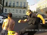 Footage reveals Paul McClelland being hit with the 50,000-volt stun gun by a Sussex Police officer after being arrested in a Brighton car park on July 5, 2013