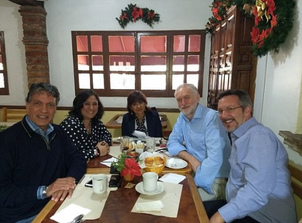 Mr Corbyn jetted off to Mexico on Christmas Day and was once restful there the day earlier than as of late morning. He's pictured with significant other Laura Alvarez centre, Irma Erendira Sandoval second left, and John Ackerman appropriate