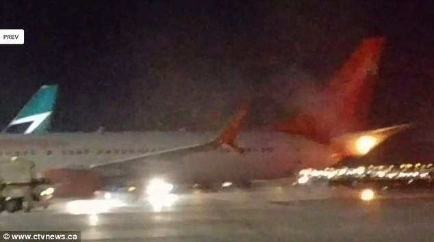 Passengers could be heard screaming after the collision caused a fire