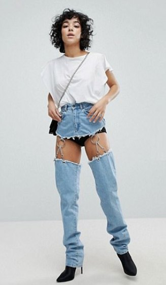 Image result for asos crotchless jeans