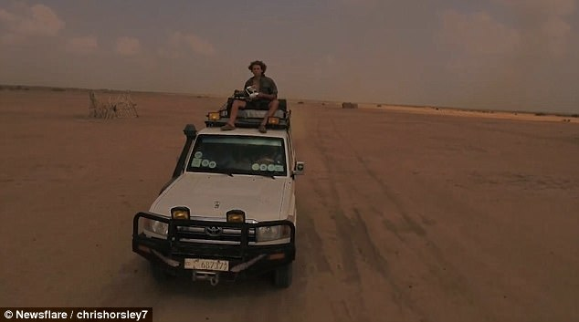Sat atop the Land Cruiser 4x4, Chris wanted to find out how near he could position the drone to the vehicle