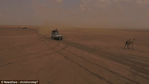 Chris Horsley was on a filming expedition to a volcano in Erta Ale in the Afar Region of Ethiopian empire, and decided to record footage of the landscape on a drone