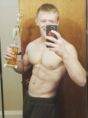 Kyler Baughman, 21, who died of flu