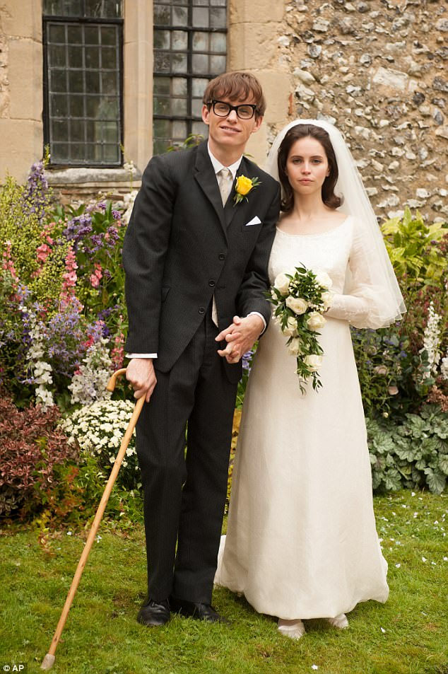 Hollywood: Eddie Redmayne and Felicity Jones as the couple in The Theory of Everything