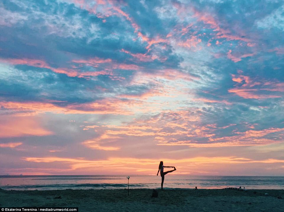 Exotic fun and fitness, too: Enjoying one of the many beautiful sunsets in Thailand...
