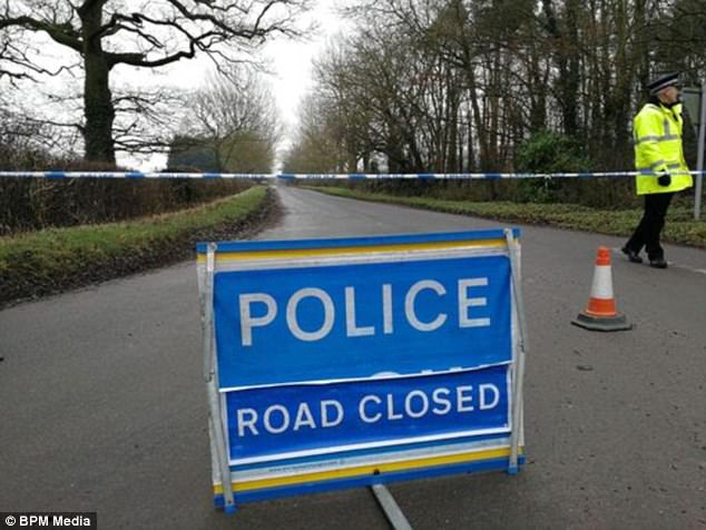 A mile-long area of the small village in Driffield has been cordoned off by police, with the road blocked off unnamed