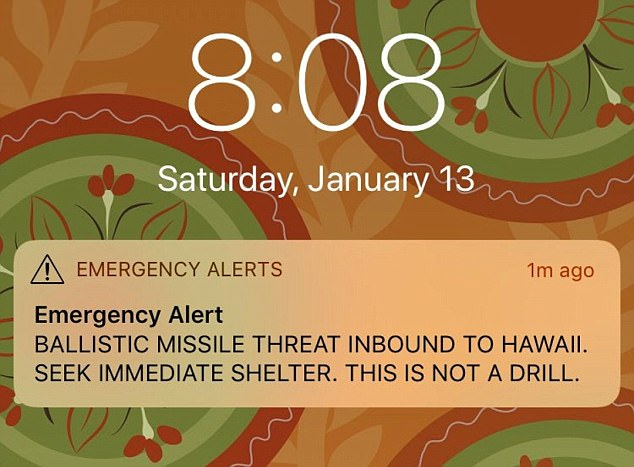 This was the alert which was issued among residents at 8.08am, sparking hysteria and panic