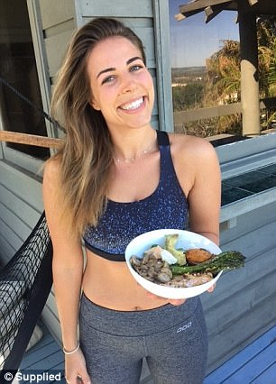 Lyndi (pictured) warned that you need to be careful when eating out, as often in cafes, slices of bread are cut twice as thick so you end up eating four servings