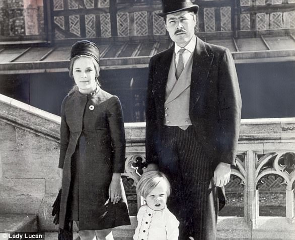 His marriage to Lady Lucan (pictured with their son George, three) had been described as 'grimly unhappy'