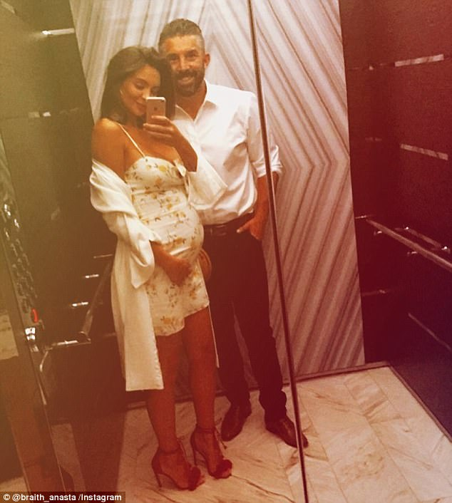 'She's gonna hate me': Braith Anasta uploaded a video of his heavily pregnant girlfriend Rachael Lee struggling with morning sickness on Sunday