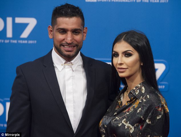 Khan and MsMakhdoom on the red carpet for the 2017 BBC Sports Personality of The Year Awards at the Echo Arena on December 17