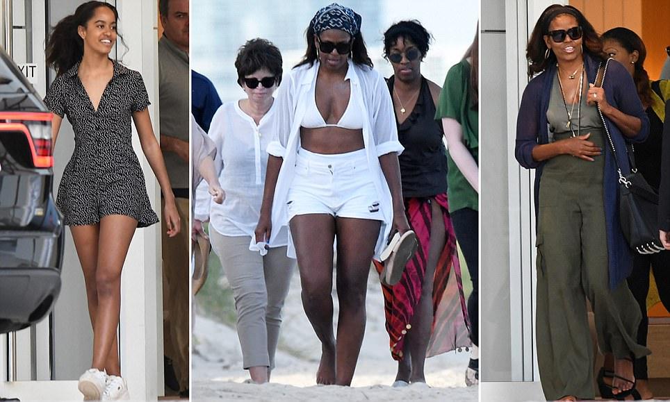Michelle Obama and Malia enjoy Saturday on Miami Beach
