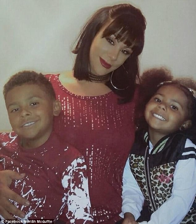 Double murder-suicide: Police say Christina Treadway (center) killed her 7-year-old son Isiah (left) and three-year-old daughter Iliyah (right) before ending her own life