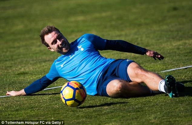 Christian Eriksen appears to be enjoying himself during Tottenham's training trip in Spain