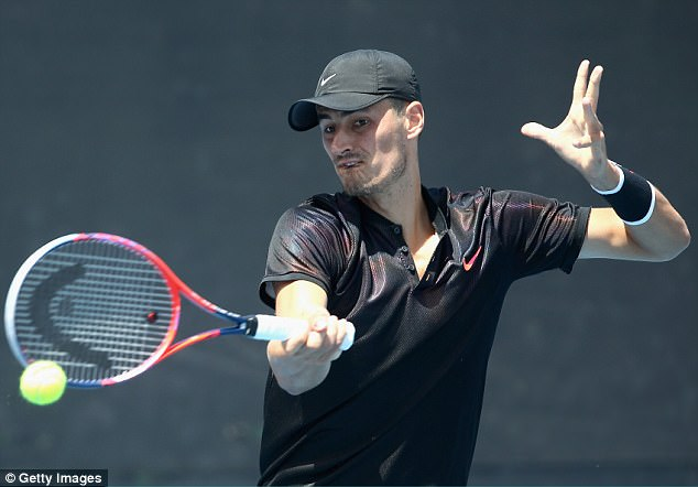 Tomic (pictured) was the shining light of Australian tennis as a youngster, but failed to qualify for this year's Australian Open