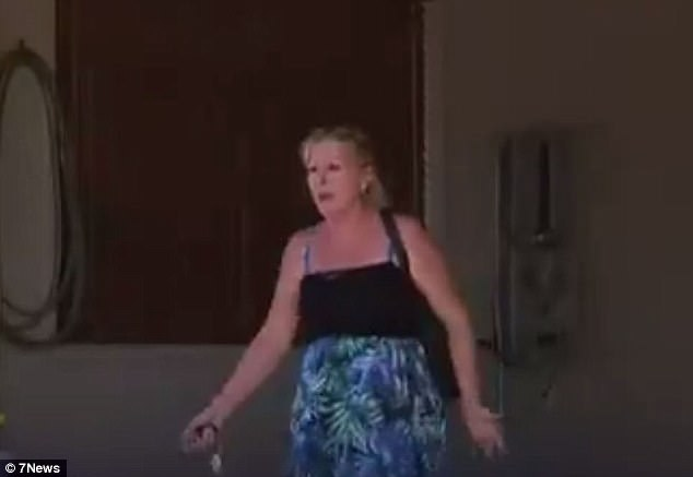 The mother (pictured) of the young girl who hosted the party returned the property to find out what had happened