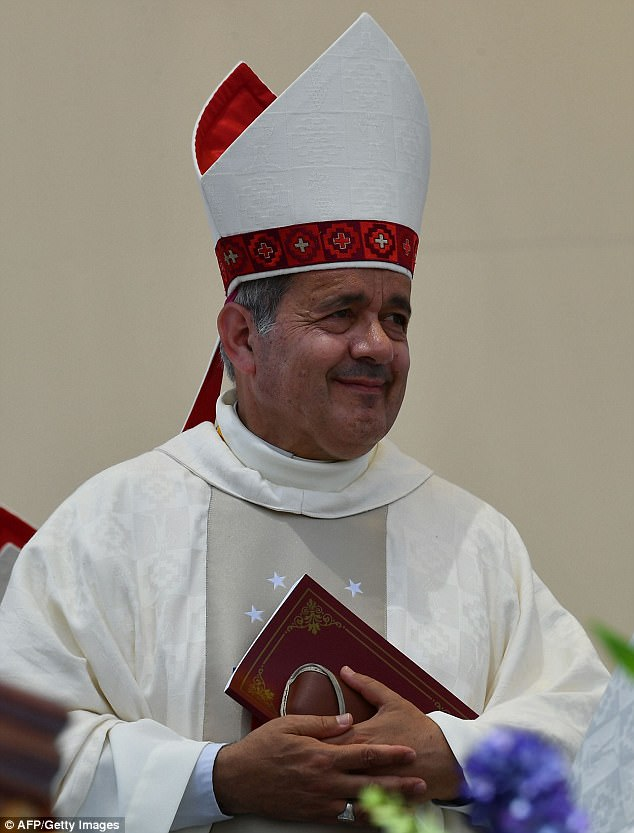 Wounds of the scandal were reopened by the Pope in 2015 when he named Juan Barros (pictured), a protege of Karadima, as bishop of the southern diocese of Osorno