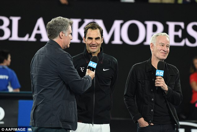 Kyrgios is the odds-on favourite for the clash at Melbourne's Rod Laver Arena, and has the support of seven-time grand slam champion John McEnroe (right)