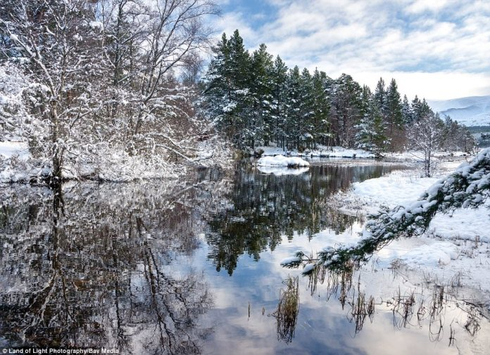 The Scottish Highlands saw the coldest of the conditions this weekend, with temperatures dropping to -13.5C last night