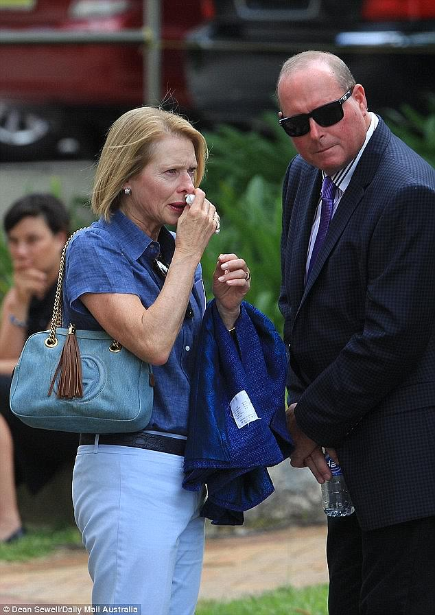 Sydney racehorse trainer Gai Waterhouse at the funeral of teen equestrian star Olivia Inglis