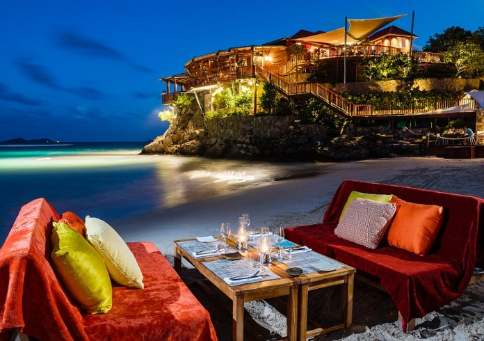 The Eden Rock resort in St Barts, pictured, was one of the highly rated top hotels thanks to its stunning views of the Caribbean Sea