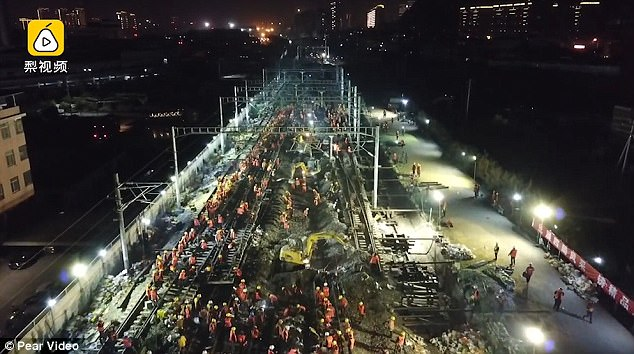 Image result for free to use image of chinese workers building railway station in nine hours