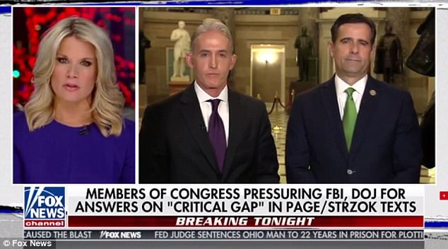 In an appearance on 'The Story with Martha MacCallum,' Rep. Trey Gowdy said the two agents also discussed deleting their text message history. Five months of their conversations later went missing
