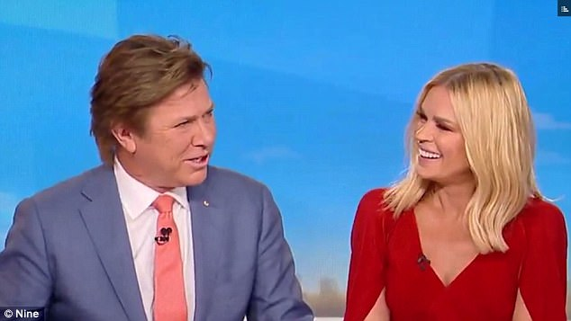 Changes: Richard's new hair was noticeable as he co-hosted Today Extra alongside Sonia Kruger on Tuesday