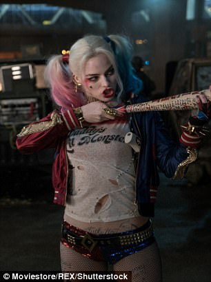 Shooting star: Since then, Margot has taken on a variety of Hollywood roles, including Goodbye, Christopher Robin and Suicide Squad (pictured)