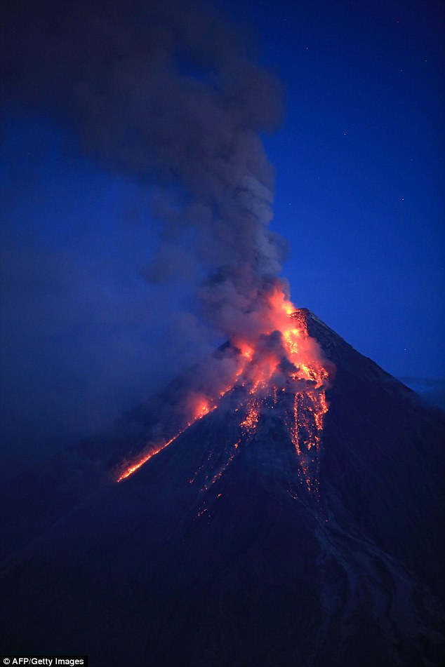 Philippines Volcano Mount Mayon Erupts Spewing Lava