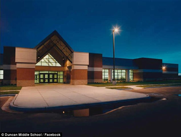 Duncan Middle School in Duncan, Oklahoma, was closed on Friday due to the spread of the flu