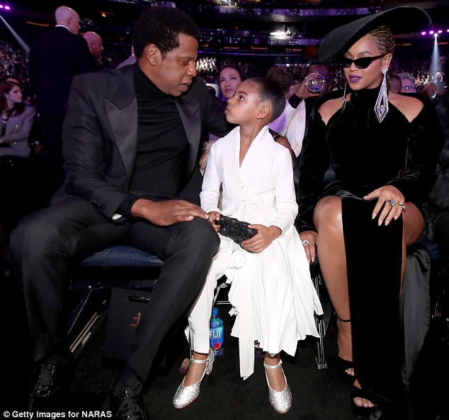 Style queen: The six-year-old was hailed for her sassy sense of style, which many felt overshadowed her parents' looks at the award ceremony