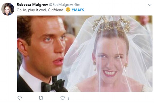 You're terrible, Muriel! One user likened Jo to infamously keen bride Muriel Heslop from the 1994 film, Muriel's Wedding