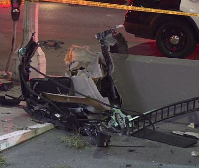 Debris From Rasual Butlers Range Rover At The Scene Of The Accident In Studio City
