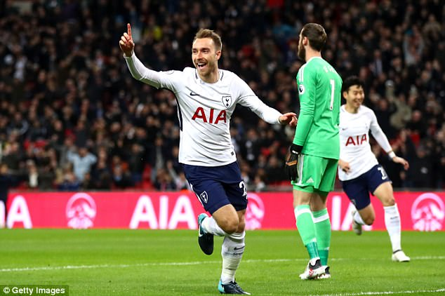 Christian Eriksen was close to the quickest ever goal, only to miss out to a former Spurs star