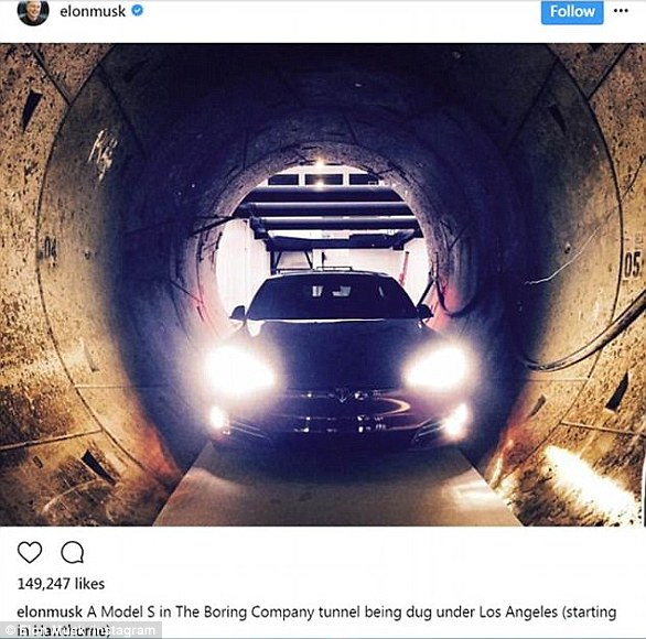In August of 2017, Elon Musk took to social media to share progress on his traffic-beating tunnel beneath Los Angeles, revealing it was big enough to fit a Tesla Model S