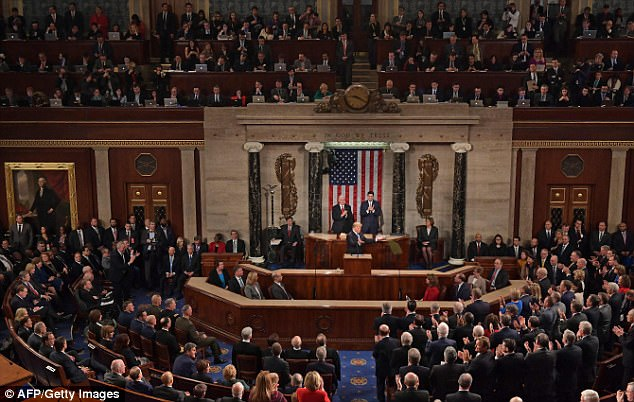 Trump delivered his first official State of the Union address at the Capitol on Tuesday night
