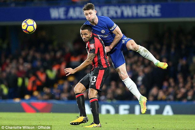 Wilson admitted that Bournemouth targeted Cahill and Antonio Rudiger at Stamford Bridge