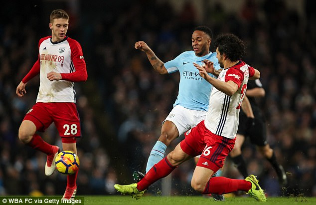 Raheem Sterling (left) calls for protection from horror tackles against Manchester City