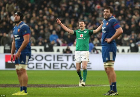 Image result for johnny sexton vs france drop goal