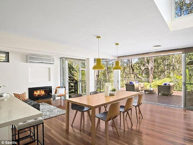 Room to move: The four bedroom home is spread over 1175 square meters and includes walking trails,