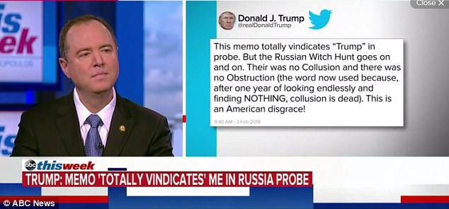 Trump said the memo 'totally vindicates