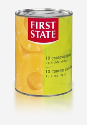 Rather than being sterilised, tinned fruit is usually pasteurised at a temperature of at least 95C